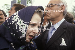 1983 Conservative Party Election Campaign Mrs Thatcher electioneering (Homer Sykes) Tags: uk england english election general britain politics headscarf 80s british 1980s conservativeparty margaretthatcher bodyguard electioneering gbr mrsthatcher denisethatcher archivestock