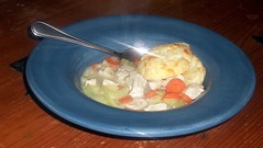 Turkey and Vegetables with Biscuits (Wendy Cooper) Tags: turkey soup biscuit 2011 thecookingblog