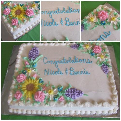 spring flower cake