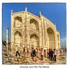 Sunrise over the Taj Mahal