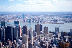 Queens from the Empire State Bldg. (davidboeke) Tags: manhattan longisland queens eastriver