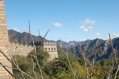 Blick vom Vorposten auf die chinesische Mauer