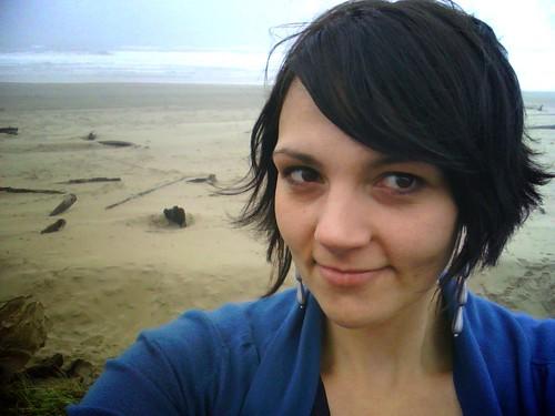 on da beach!