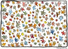 hands-color illustration (Frits Ahlefeldt, Hiking.org) Tags: people color kids illustration ink community funny comic drawing cartoon free creativecommons cartoons printversion hikingartistcom hikingartist fritsahlefeldt