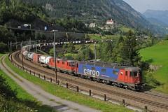 620069 & 11324 - Wassen 03/09/16 (James Welham) Tags: wassen wattinger curve kurve switzerland gotthard gotthardbahn sbb 44 66 1010 620069 11324