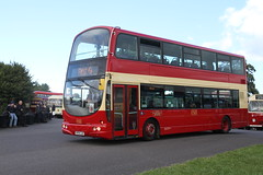 PMT 32634 KP54LAO DONINGTON PARK 250916 (DavidsTransportPix) Tags: kp54lao volvo b7tl wright doubledeckerbus heritagelivery potteriesmotortraction potteries pmt firstnorthampton