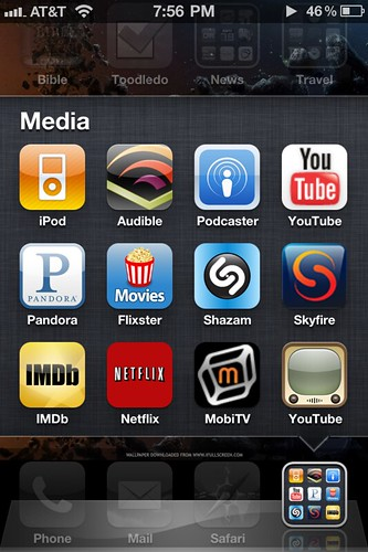 Media Apps on my iPhone (Jan 2010)