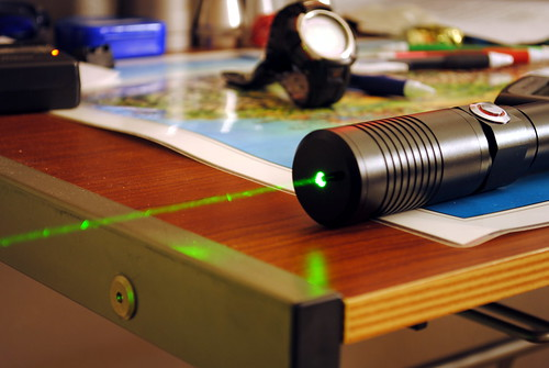 High Power Green Laser, Light Background