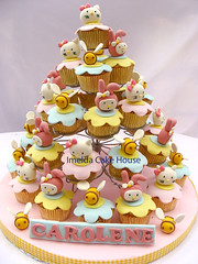 Kitty, My Melody, and Bees (Imelda Andiani) Tags: hello birthday girl bees kitty sanrio melody cupcake my