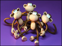 Together (Rigib) Tags: macro canon monkey mono macaco 60mm abe affe  mapa f180  img4100 lens00025 bobbyjack  365toyproject