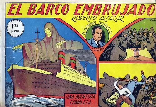 001-Roberto Alcázar-Nº 1 - El Barco Embrujado-portada