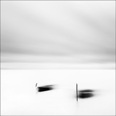 Swans (Andy Brown (mrbuk1)) Tags: longexposure cloud seascape abstract blur water square boats mono blackwhite movement peaceful minimal motionblur mooring highkey posts metaphor simple graceful berth dinghies nd110 takeaview lpoty11