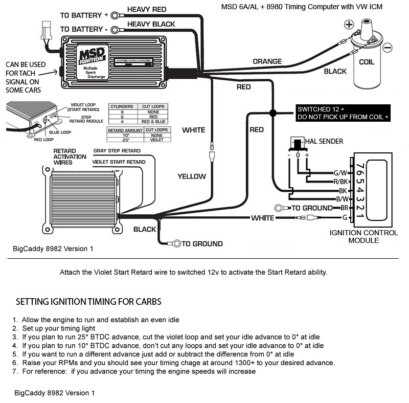 msd 8982 wiring diagram msd distributor to msd 6al wiring diagram