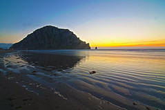 Day 28/365: Sunset at Morro Rock (Lisa Asil) Tags: ocean california ca sunset sky water cali landscape january morrobay 365 slo day28 morrorock hdr sanluisobispo 2011 project365 28365 january2011 mostly365 project36612011 2011yip 2011inphotos 2011128