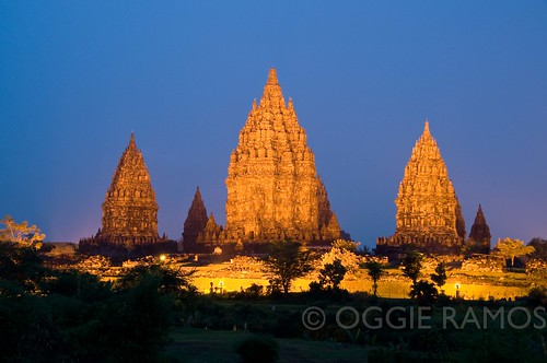 Indonesia - Prambanan Night Lightscape