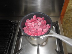 Rasberries in the pot