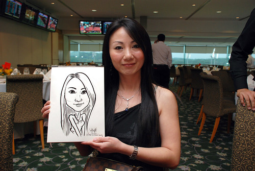 caricature live sketching for Thorn Business Associates Appreciate Night 2011 - 2