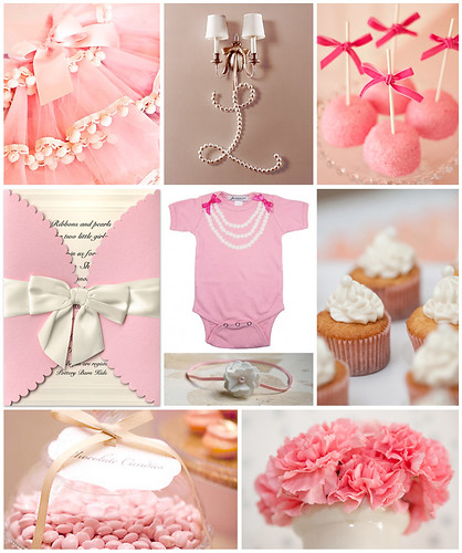 Ribbons and Pearls Baby Shower