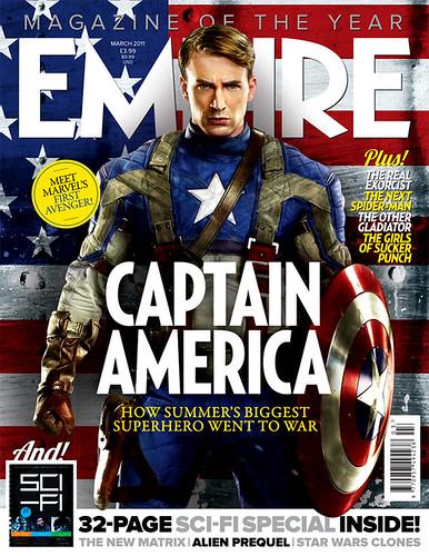 Chris Evans as Captain America from Empire Magazine