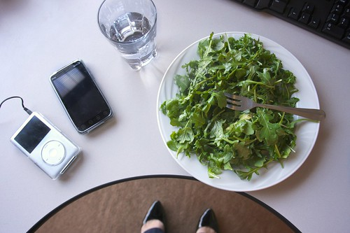 rocket avocado salad & technology