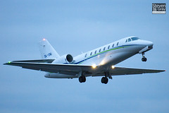 OK-UNI - 680-0139 - Travel Service Airline - Cessna 680 Citation Soverign - Luton - 110127 - Steven Gray - IMG_8551