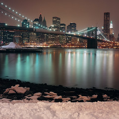 the snowy banks of the east river (Barry Yanowitz) Tags: nyc newyorkcity snow ny newyork 6x6 film weather brooklyn mediumformat flickr dumbo 120film scanned filmcamera nycity 718 brooklynbridgepark colorfilm rolleicordv kodakektar100 mainstreetsection nprfilm