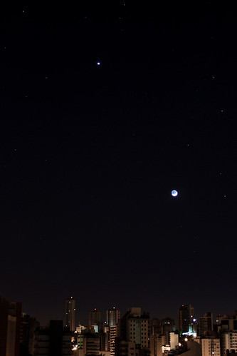 The Earth, Moon and Venus