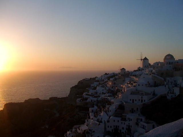 greece - sunset in santorini