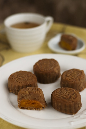 Chestnut and Apricot Mooncake (filling)