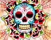 Sugar Skull Painting Prints available here