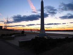 February 2, 2011 - Tom Lee Park at Sunset (SusanKC) Tags: mississippiriver downtownmemphis project365