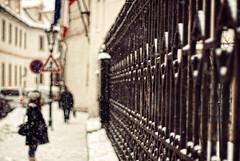 solidarity (ewitsoe) Tags: street vacation woman cold fence 50mm nikon iron europe december prague bokeh poland polska praha praga visit czechrepublic 2010 hff d80 bokehperson happyfencefriday ifellalmosthumanagain cantwaittogetoutandshoot emabasssy polishemabassy