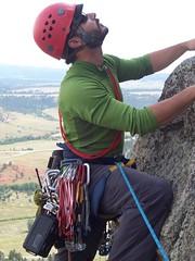 M Benning on Devil's Tower