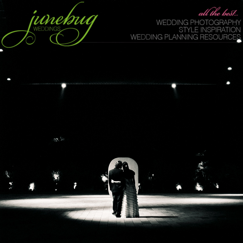 Featured on Junebug Weddings dot com 2-4-11