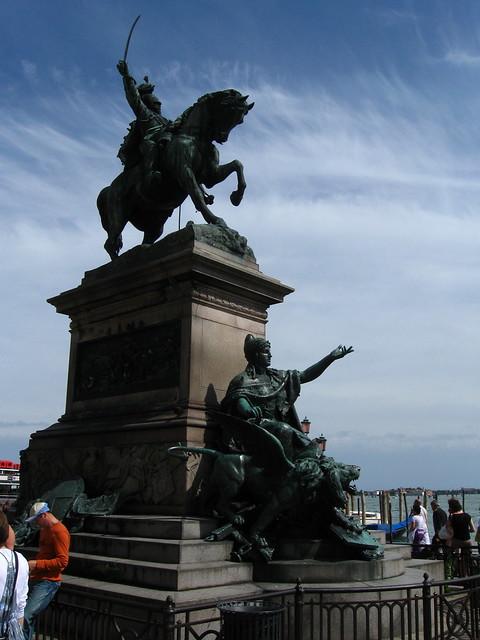 ヴェネツィアの騎馬像のフリー写真素材