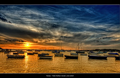 287/365 - HDR - Poole.Harbour.Sunset.@.1250x725 (Pawel Tomaszewicz) Tags: camera new uk light sunset wallpaper england sky holiday water colors beautiful clouds photoshop canon boats island photography eos boat photo europe foto view angle image photos wide creative picture wideangle ps images x dorset 1200 fotografia 800 bournemouth hdr poole hdri anglia aparat iphone pawel zachd soca d wakacje cs3 ipad chmury 3xp photomatix greatphotographers wyspa odzie wyspy eos400d 1200x800 fotografowie polscy tomaszewicz paweltomaszewicz tomaszpluk