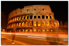 Rome - Ghosts at the Coliseum (ciccioetneo) Tags: light italy rome speed photography ancient nikon long exposure italia slow view angle tripod wide trails sigma colosseum shutter coliseum ghosts amphitheater 1020mm lazio colosseo anfiteatro flavianamphitheatre d7000 ciccioetneo