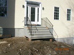 stucco steps on sonotubes