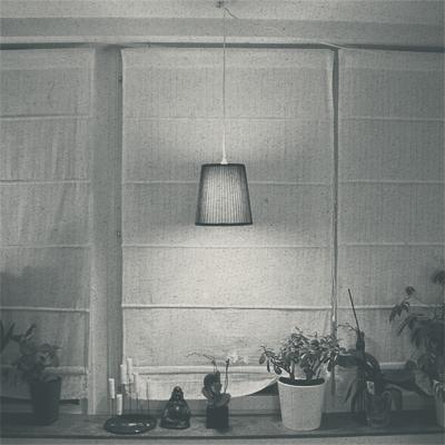 Lampa i fönster