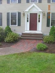 brick steps and walkway
