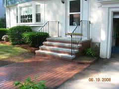 Brick steps with walkway