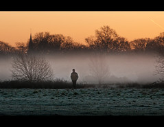 The Man in the Mist (Stuart-Lee) Tags: uk winter england mist man london sunrise dawn eppingforest candid e17 londonist hollowpond walthanstow