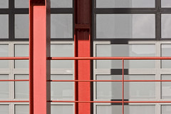 Chasing Piet Mondrian (Canadapt) Tags: red orange abstract architecture steel beam pietmondrian canadapt