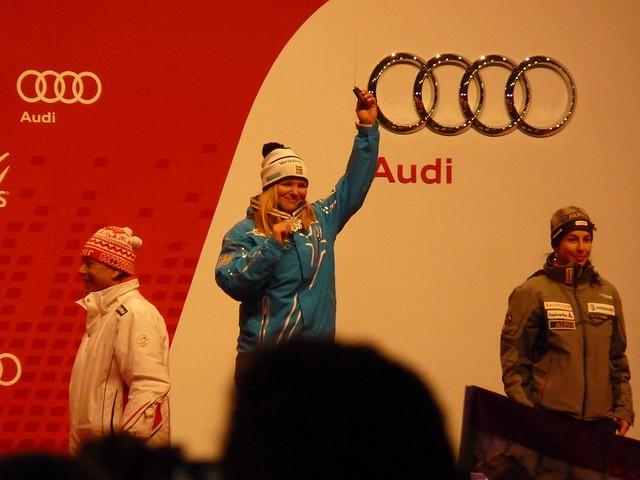 Ski-WM 2011, Anja Pärson, Siegerehrung Super-Kombi