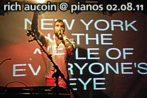 Rich Aucoin at Pianos, February 8, 2011