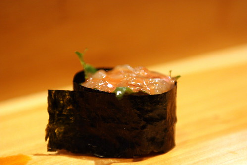 Amaebi Brain with Shiso