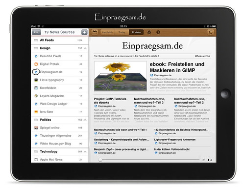 Early Edition - Ipad App RSS Reader