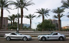 Mercedes-Benz SLR McLaren & SLS AMG (agup627) Tags: park trees light arizona tree slr phoenix fashion sport silver germany palms mercedes benz side spokes profile grand az super racing palm palmtrees chrome german mclaren palmtree mercedesbenz gran biltmore gt rs luxury mb weight supercar sls amg gullwing tourer leicht lightweight redinterior melcher biltmorefashionpark aufrecht grandtourer rennsport worldcars sideexhaust grantourer grosaspach aufrechtmelchergrosaspach grossaspach sportlightracing sportleichtrennsport superleichtsport aufrechtmelchergrossaspach