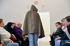 DSC_2520mod (Ma'ayan Plaut) Tags: students fashion design town community handmade clothes fashionshow weaving catwalk oberlin winterterm looms 2611 betsybruce favagallery fromyarntogarment firelandsassociationforvisualarts