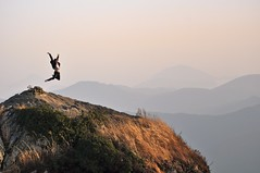 Alive (The Nomad Within (Pete DeMarco)) Tags: city travel mountain man jump joy adventure tongyeong mireuksan